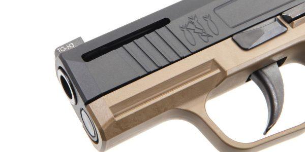 New Flat Dark Earth Danger Close Armament Sig Sauer P365 Signature Pistol for sale