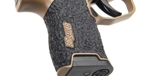 Brain Texture stippling on the New Flat Dark Earth Danger Close Armament Sig Sauer P365 Signature Pistol for sale
