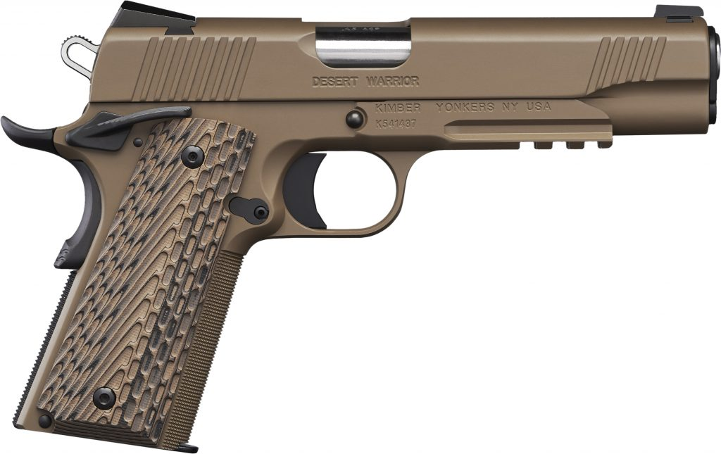 Kimber Desert Warrior 45 ACP for sale. Get your desert spec Kimber Warrior today and get one of the best 45 ACP pistols on the market.