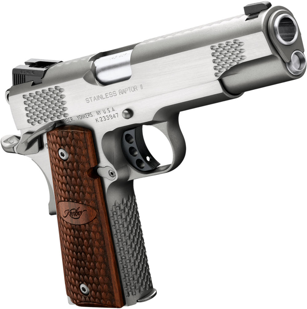 Kimber Stainless Raptor II - One of the best Kimber 1911 pistols for sale in 2020. Buy guns online at the USA's favorite gunbroker.