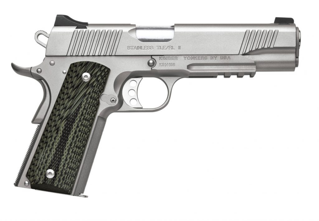 Kimber Custom TLE/RL II Stainless Steel For Sale - A great looking semi-automatic 1911 pistol chambered in 45 AUto ACP or 9mm Luger.